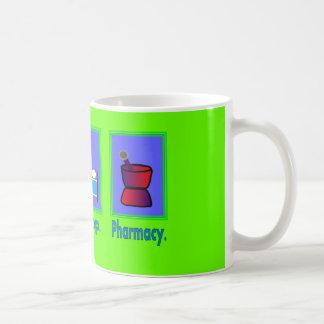 Coma los regalos del farmacéutico de la farmacia d taza de café