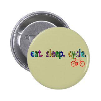 coma los regalos del jinete de la bicicleta del ci pin redondo de 2 pulgadas