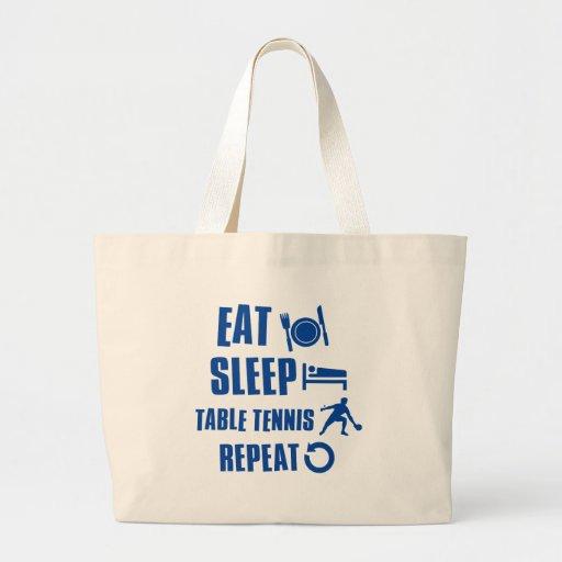 Coma los tenis de mesa del sueño bolsa