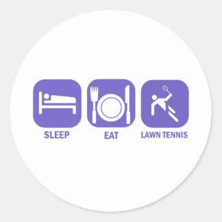 Coma los tenis sobre hierba del sueño pegatinas redondas