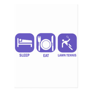 Coma los tenis sobre hierba del sueño tarjeta postal