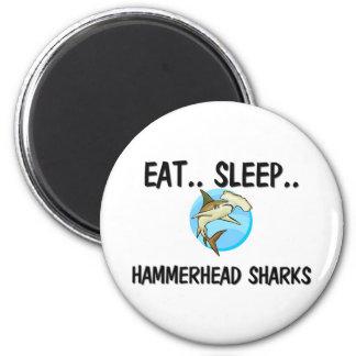 Coma los TIBURONES de HAMMERHEAD del sueño Imán Para Frigorífico