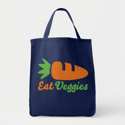 Coma los Veggies Bolsa Tela Para La Compra