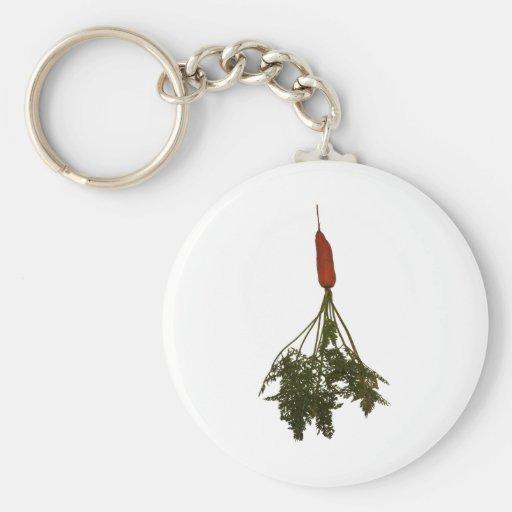 Coma los veggies, imagen de la zanahoria llaveros personalizados