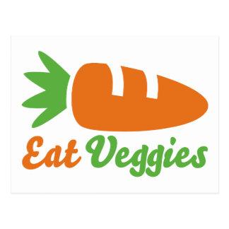Coma los Veggies Tarjetas Postales