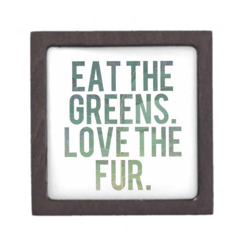 ¡Coma los verdes de Yo! Caja De Recuerdo De Calidad