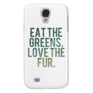 ¡Coma los verdes de Yo! Funda Para Galaxy S4