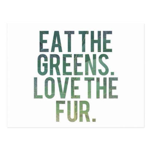 ¡Coma los verdes de Yo! Postales