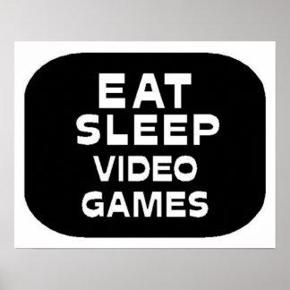 Coma los videojuegos del sueño póster