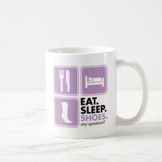 Coma los zapatos del sueño - rosa taza