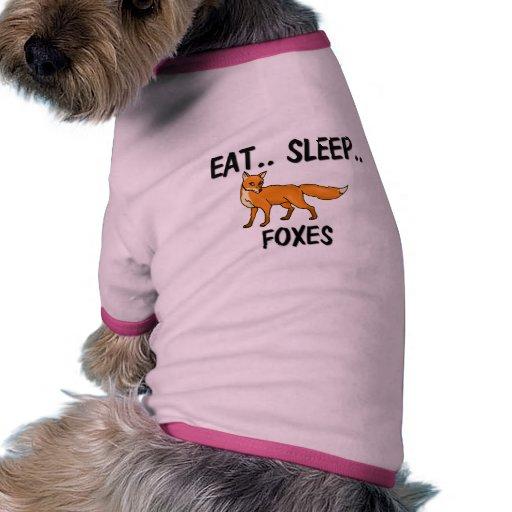 Coma los ZORROS del sueño Camiseta Con Mangas Para Perro