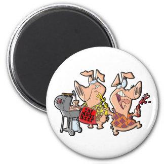 Coma más carne de vaca imán redondo 5 cm