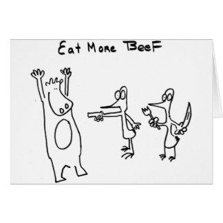 Coma más carne de vaca soportan felicitaciones