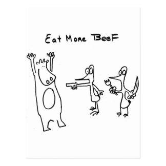 Coma más carne de vaca soportan tarjeta postal