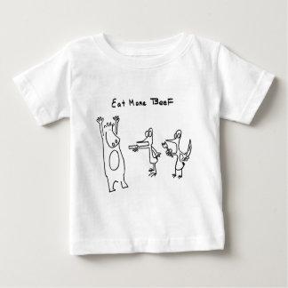 Coma más carne de vaca soportan tee shirt