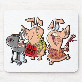 Coma más carne de vaca alfombrilla de ratones