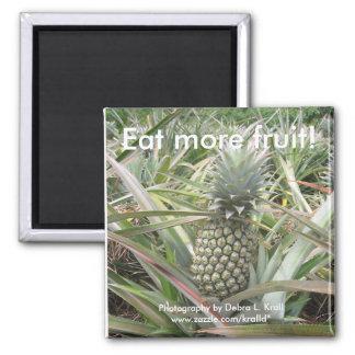¡Coma más fruta! Imán de la piña