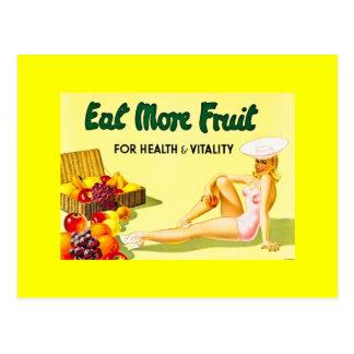 Coma más fruta - los años 40 del anuncio Ca del Postal