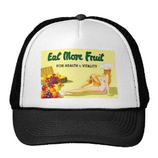 Coma más fruta - los años 40 del anuncio Ca del vi Gorros