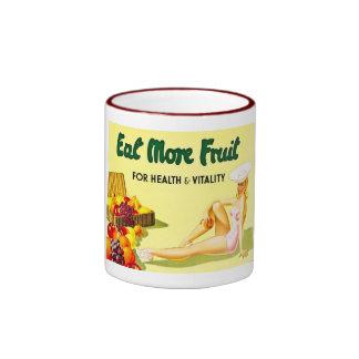 Coma más fruta - los años 40 del anuncio Ca del vi Taza A Dos Colores