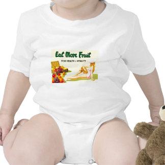 Coma más fruta para la salud y la vitalidad - vint camiseta
