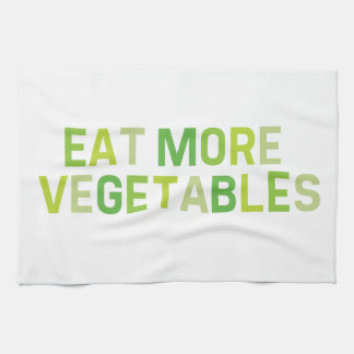 Coma más toalla de té de las verduras