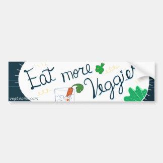 Coma más Veggies Pegatina De Parachoque