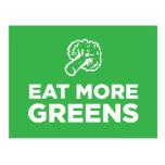 Coma más verdes postales