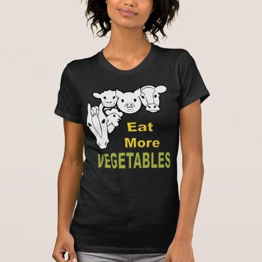 ¡Coma más verduras! ¡- Los animales están de acuer Camisetas