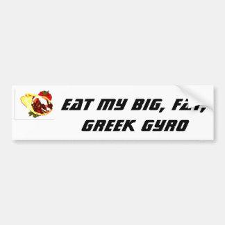 Coma mi girocompás grande, gordo, griego pegatina para auto