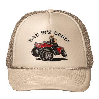 coma mi polvo, viejo hombre en 4 gorras divertidos