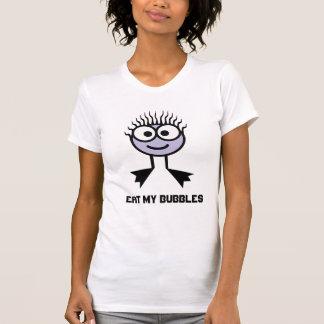 Coma mis burbujas - carácter de la nadada de la camiseta