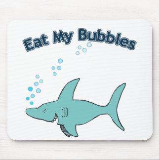 Coma mis burbujas alfombrilla de raton