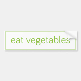 """coma pegatina para el parachoques de las verduras etiqueta de parachoque"