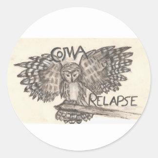 Coma Relapse Classic Round Sticker