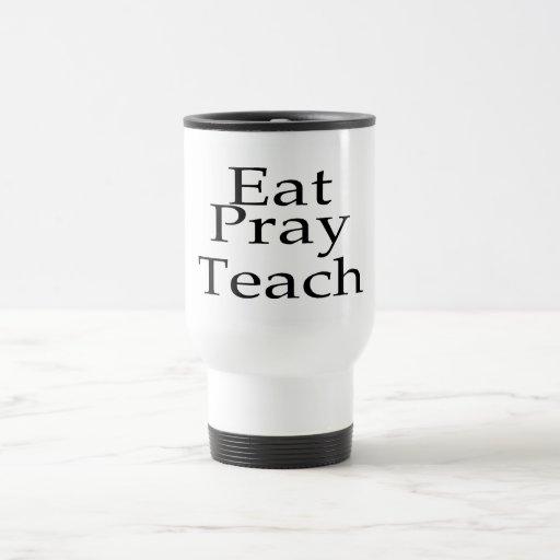 Coma ruegan enseñan tazas