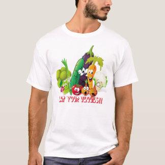 Coma su camisa de los veggies