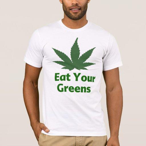 Coma su camisa de los verdes