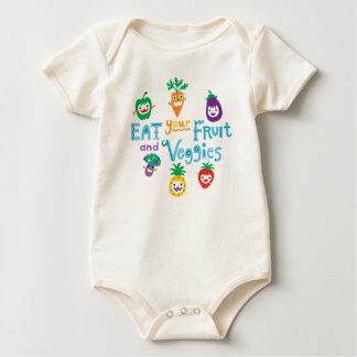 Coma su fruta y ll de los Veggies por el pájaro de Body Para Bebé