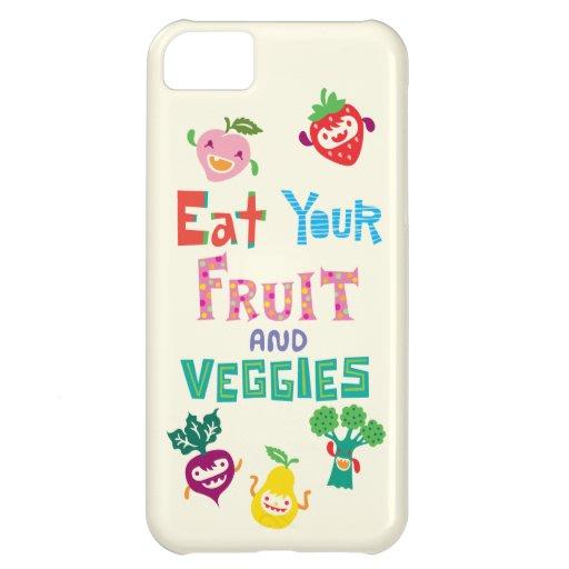 Coma su fruta y Veggies 1 caso del iPhone 5