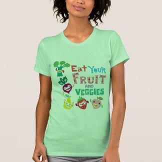 Coma su fruta y Veggies - beige Playera