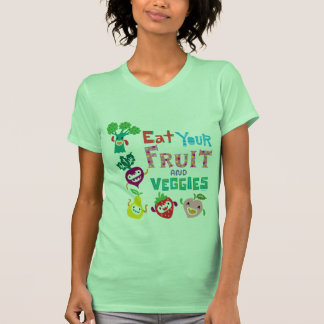 Coma su fruta y Veggies - beige Playeras