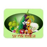 Coma su imán del premio de los veggies