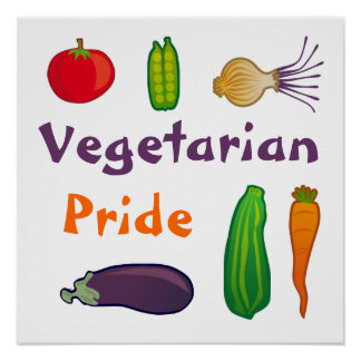 Coma su poster vegetariano del cuadrado del orgull