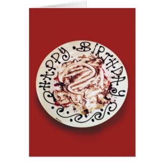 Coma su torta tarjeta de felicitación