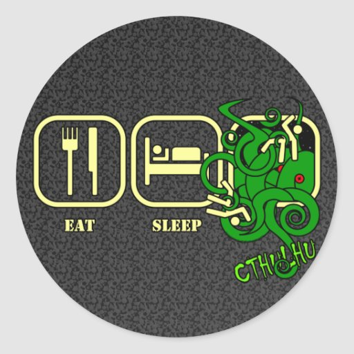 Coma - sueño - a los pegatinas de Cthulhu