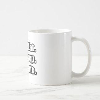 Coma Sueño Actúe Tazas De Café