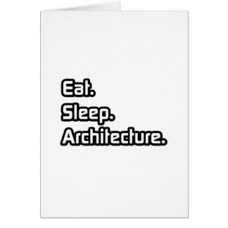 Coma. Sueño. Arquitectura Tarjeta De Felicitación