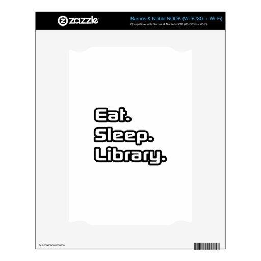 Coma. Sueño. Biblioteca Skins Para NOOK
