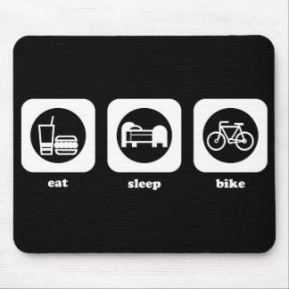 Coma. Sueño. Bici. Mousepad Tapete De Raton